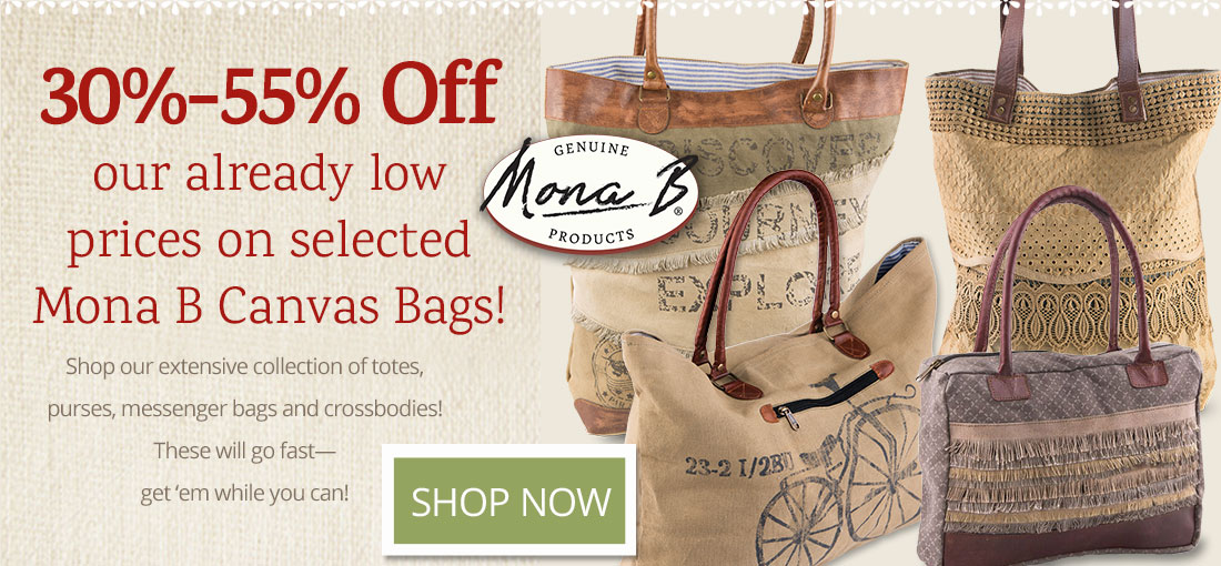 30 to 35 percent off Mona B bags