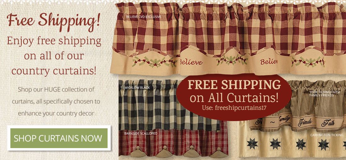 Free Shipping on All Country Curtains with freeshipcurtains17