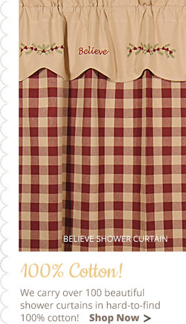 Wicklow Shower Curtain Garnet Country Village Shoppe