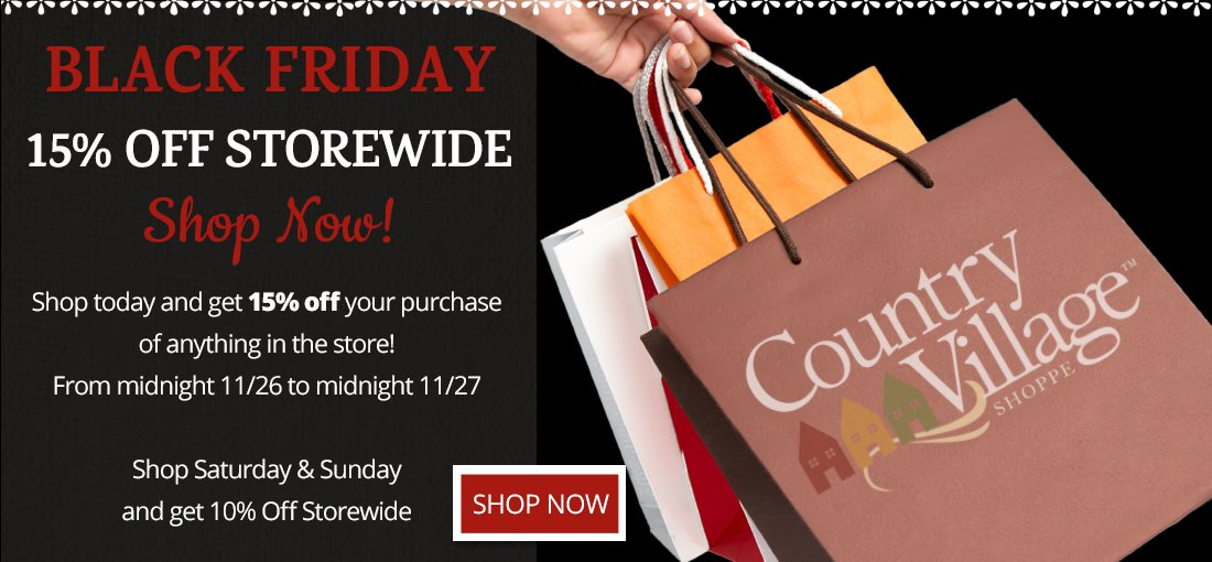 Black Friday 15 percent off storewide