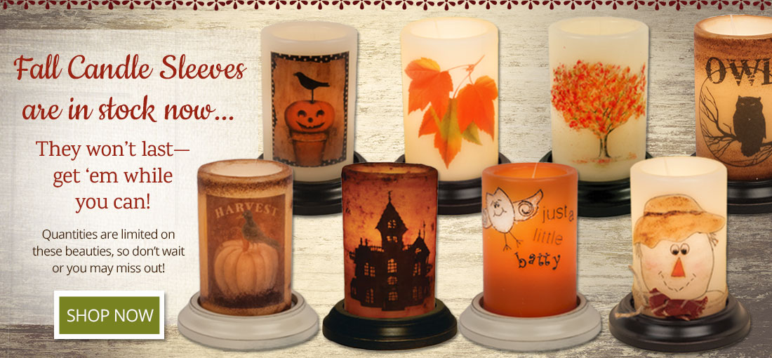 Fall Candle Sleeves In Stock Now