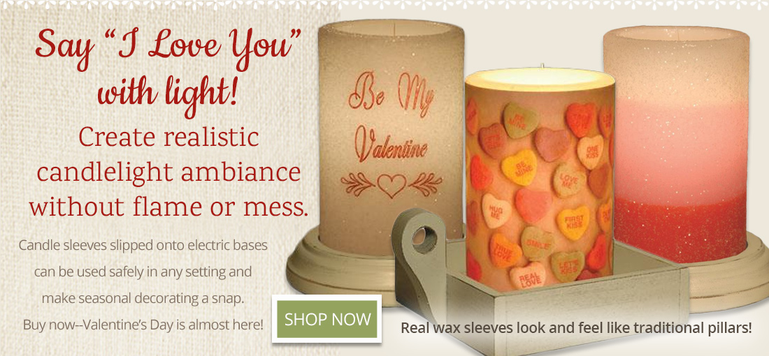 Shop Valentine's Day Candle Sleeves