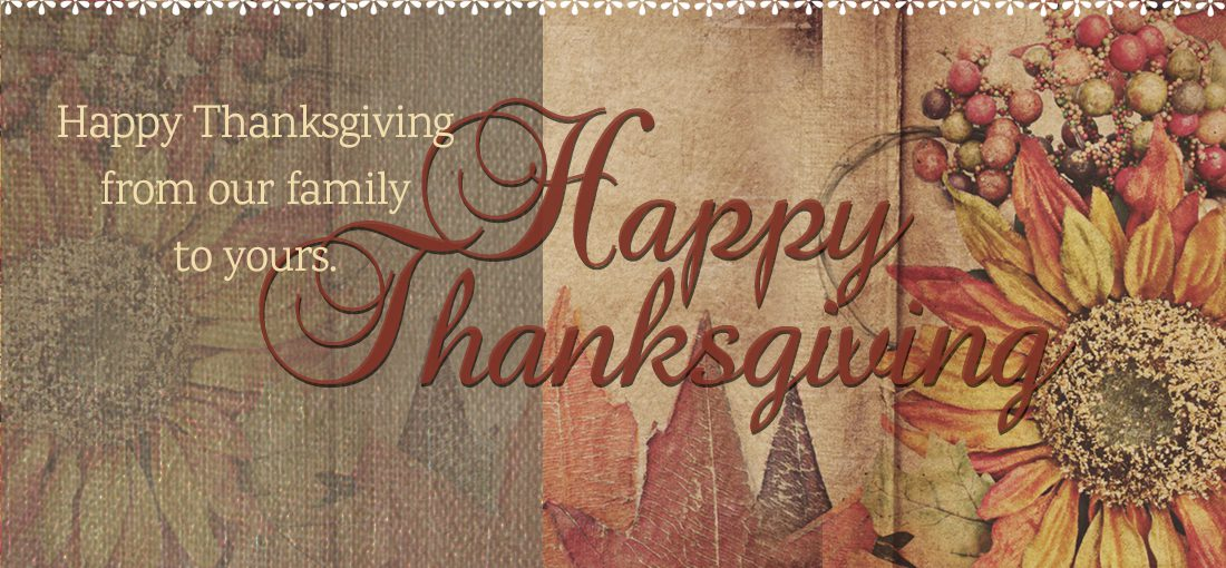 Happy Thanksgiving from Country Village Shoppe