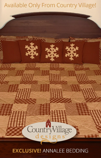 Country Quilt Annalee Red Bedding