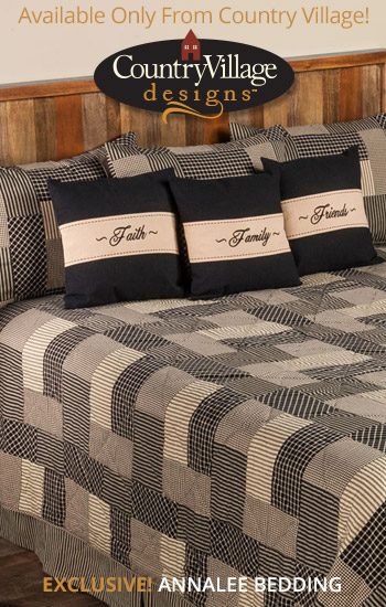 Country Quilt Annalee Black Bedding