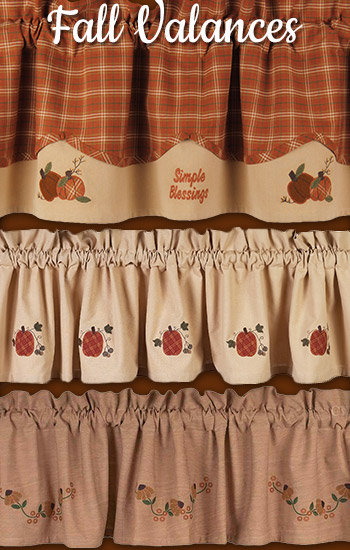 Country Fall Valances