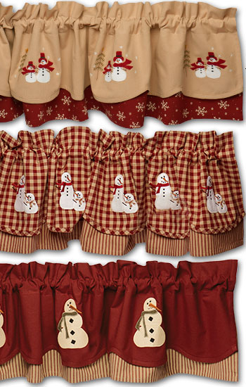 Country Village Curtains for Christmas
