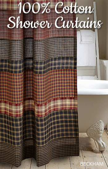 Country Village 100% Cotton Shower Curtains
