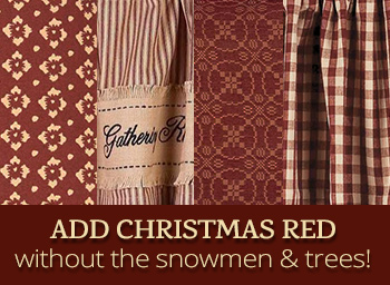 Decorate for Christmas with Red Curtains