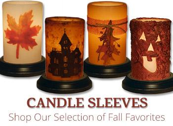 Seasonal Candle Sleeves