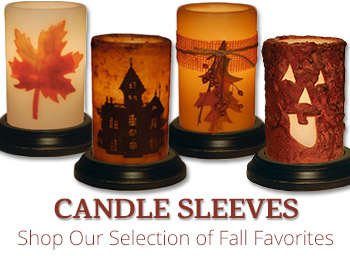 Fall Candle Sleeves