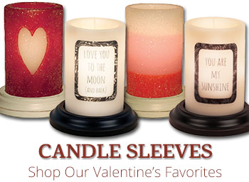 Valentine's Candle Sleeves
