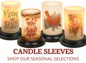 Winter Candle Sleeves