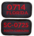 """Sew your Troop Number and State patch ¼"""" below the seam on the right sleeve."""