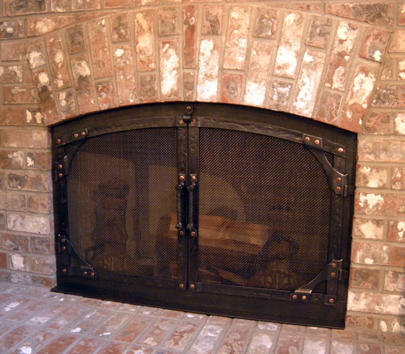 ... Hand Forged Fireplace Doors By Blacksmiths At Ponderosa Forge