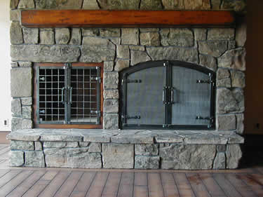 Custom Wrought Iron Fireplace Door Gallery Ponderosa