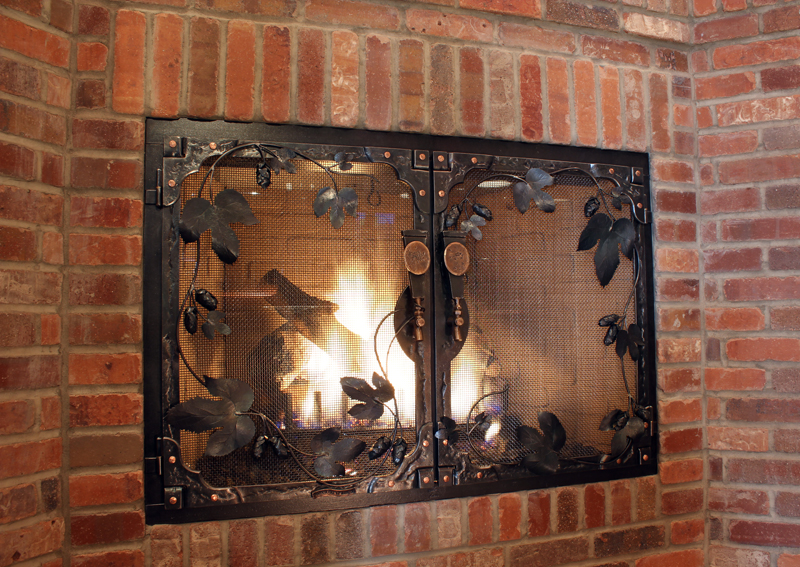 Custom Wrought Iron Fireplace Door Gallery Ponderosa Forge
