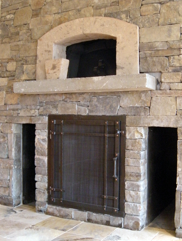 Custom Wrought Iron Fireplace Door Gallery