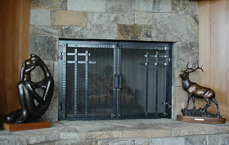 Hand Forged Fireplace Doors By Blacksmiths At Ponderosa Forge ...