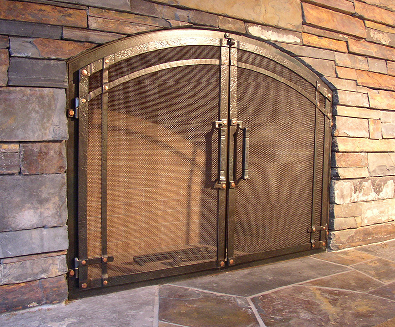 Custom Wrought Iron Fireplace Door Gallery Ponderosa