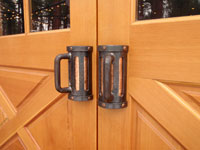 Beer mug door handles