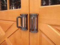 Beer mug door handles