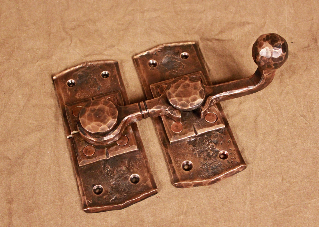 Forged Gate Latch Bar : Wrought iron door hardware ponderosa forge ironworks
