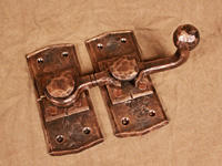 hand forged bronze barn door latch