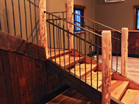 bronze and iron railing stair panels