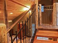 bronze and iron balcony railing panels