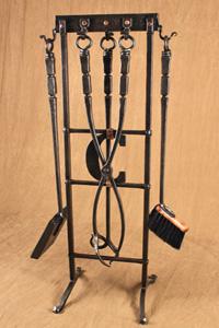 custom hand forged fire tool set