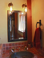 wrought iron ships deck bathroom mirror