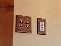hammered copper switchplates