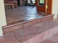 hammered copper threshold