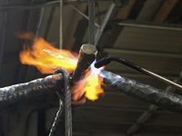 wrought iron rope finishing touches