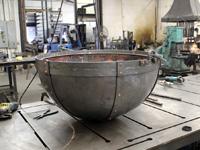 rough copper cauldron