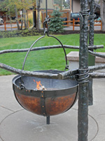 wrought iron log fire pit