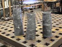 hand forged tree stumps