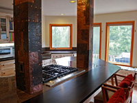 patchwork copper kitchen columns