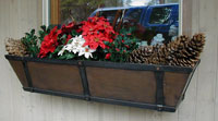 copper planter boxes