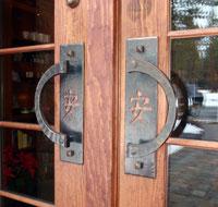 Shibui iron door handles