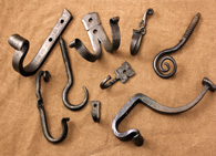 Hand forged wrought iron hooks