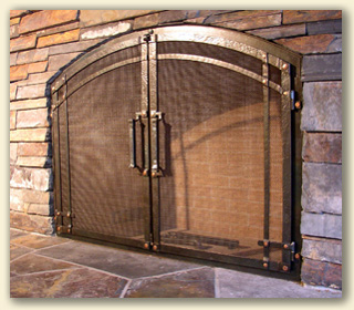 The Ponderosa FOrge Masons Frame For New Construction Fireplace Doors