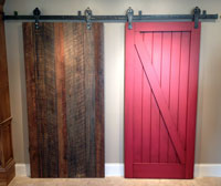 iron barn door tracks