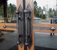 Sunriver iron door handles