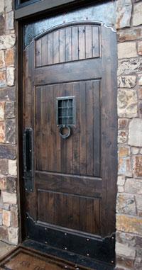 wrought iron door hardware set