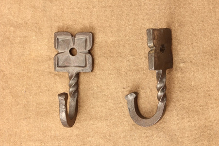 wrought iron rosette hooks
