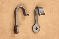 wrought iron round flared hooks