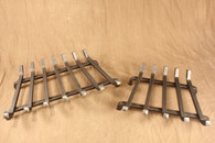 wrought iron standard fireplace grate - 7 Bar and 5 Bar