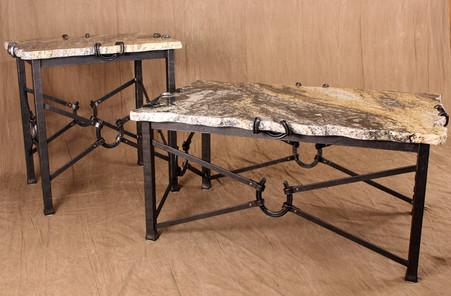 Awesome Wrought Iron Horseshoe Tables